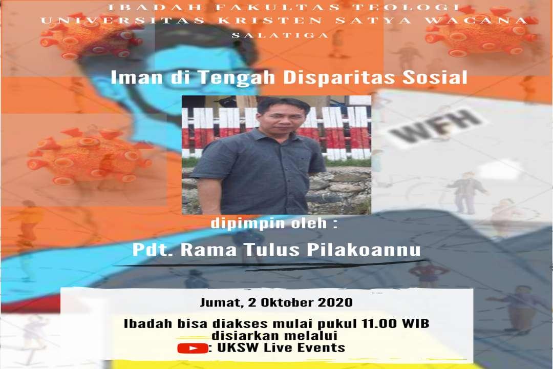 Ibadah Fakultas Teologi - Jumat 2 Oktober 2020