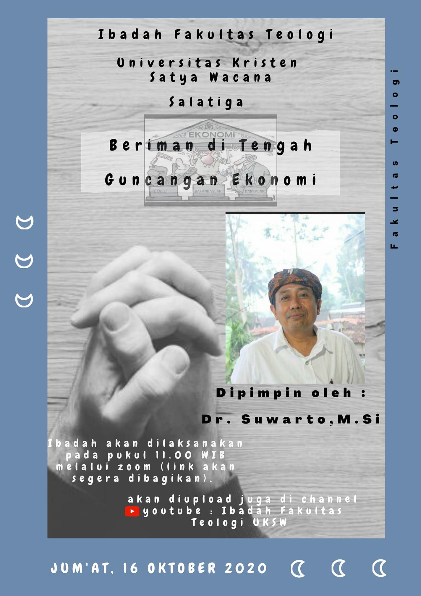 Ibadah Fakultas Teologi - Jumat 16 Oktober 2020