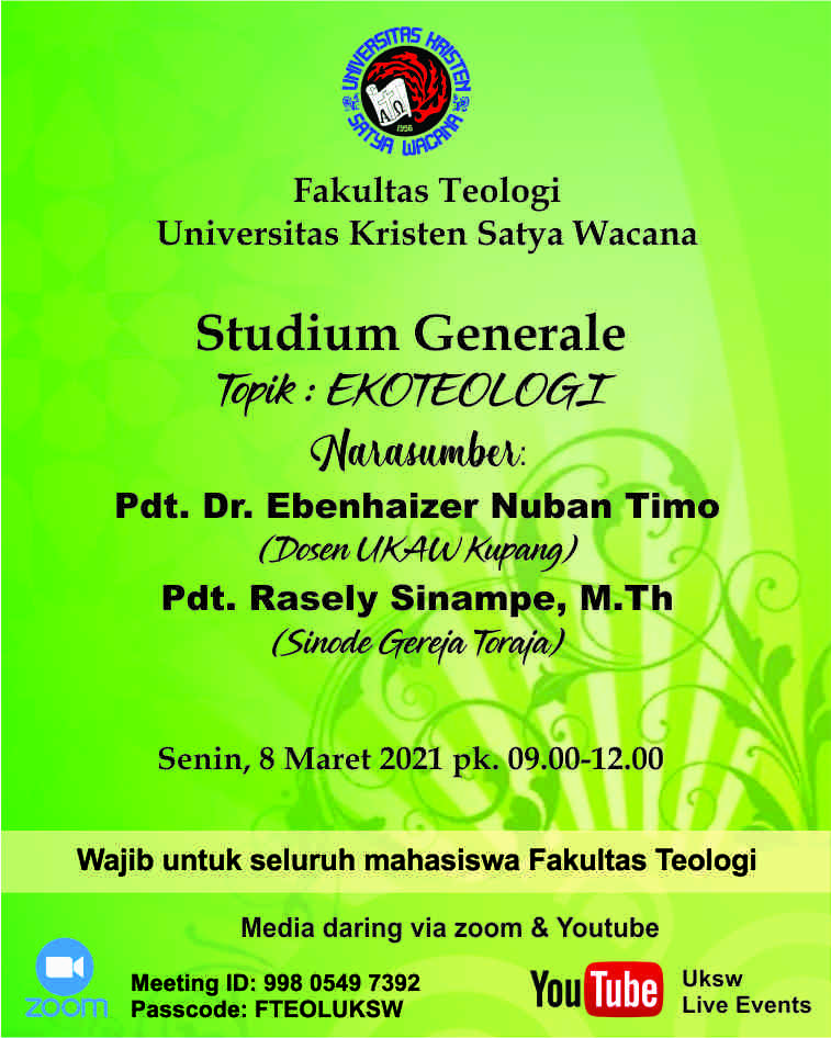 Studium Generale Ekoteologi Fakultas Teologi