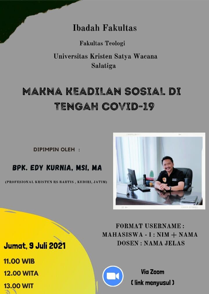 Ibadah Fakultas Teologi - 9 Juli 2021